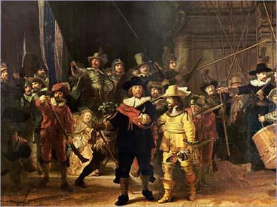 La ronde de nuit, Rembrandt, 1642.